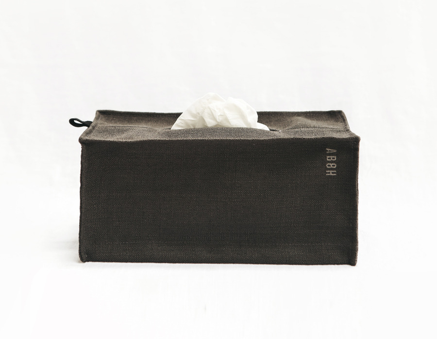 charcoal minimal tissue box cover
